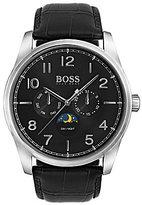 HUGO BOSS BOSS Heritage Multifunction Leather-Strap Watch
