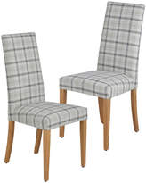 Marks and Spencer 2 Denford Checked Grey Mix Dining Chair