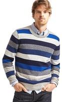 Gap Crazy stripe merino wool blend sweater