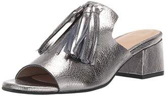Kaanas Women's York Tassel Open Toe Slide Low Block Heel Pump