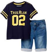 True Religion Tee & Knit Shorts Set (Toddler Boys)