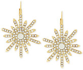 Vince Camuto Gold-Tone Crystal Sunburst Drop Earrings