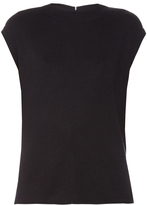 Balenciaga Draped-back silk-knit top