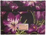Dolce & Gabbana Black Tulip Card Holder