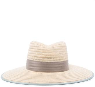 D ESTREE Cindy grosgrain-trimmed straw hat
