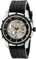 Akribos XXIV Men's AKR444SS Premier Delos Automatic Skeleton Black Watch