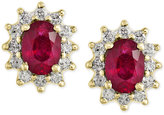 Effy Ruby (2 ct. t.w.) and Diamond (1/2 ct. t.w.) Stud Earrings in 14k Gold