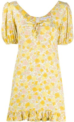 Faithfull The Brand Floral Print Flared Dress