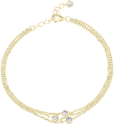 Bliss Cubic Zirconia & Gold Layered Bracelet