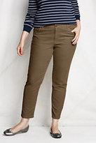 Lands' End Women's Plus Size Corduroy Ankle Pants-Black
