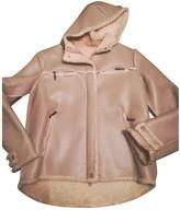 Byblos Beige Leather Jacket for Women
