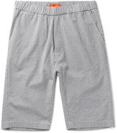 Barena - Slim-fit Puppytooth Stretch-cotton Twill Drawstring Shorts