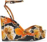 Castaner Zula printed canvas wedge sandals