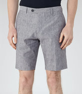Reiss Galoway Linen And Cotton Shorts
