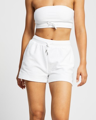 Factorie - Women's White Shorts - Reverse Fleece Shorts - Size XS at The Iconic