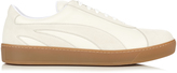 Tomas Maier Suede and leather low-top trainers