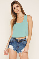 Forever 21 FOREVER 21+ Crochet-Paneled Top
