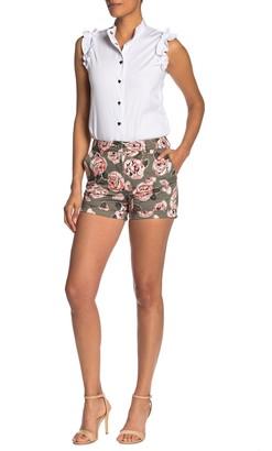 Love Moschino Allover Rose Print Shorts