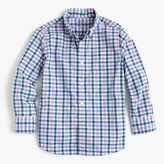 J.Crew Kids' Secret Wash shirt in multicheck