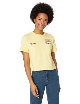 Volcom Junior's Women's Dial Short Sleeve Pocket Tee