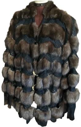 Gianfranco Ferre Brown Fur Coat for Women