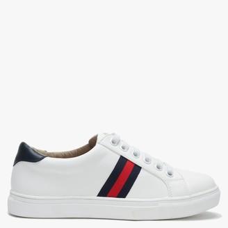 Df By Daniel Striper White Three Stripe Lace Up Trainers