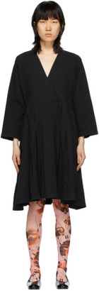 Henrik Vibskov Black Pleated Skirt Dress