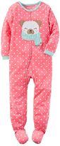 Carter's Girls 4-14 One-Piece Animal Footed Pajamas