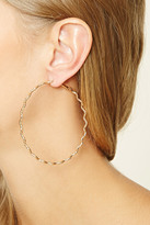 Forever 21 FOREVER 21+ Chevron Hoop Earrings
