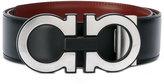 Salvatore Ferragamo reversible double Gancio belt - men - Leather/metal - 90