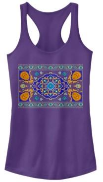 Fifth Sun Disney Juniors' Aladdin Magic Carpet Panel Print Ideal Racerback Tank Top