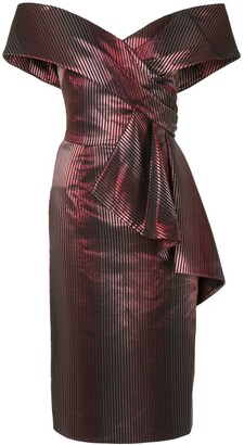 Saiid Kobeisy Fitted Draped-Peplum Dress