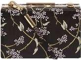 Dorothy Perkins Black Flower Satin Box Clutch Bag