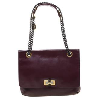 Lanvin Burgundy Leather Handbags