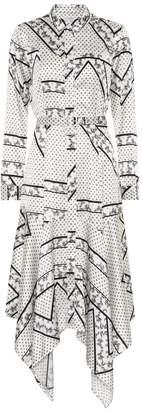 Ganni Stretch silk-satin shirt dress