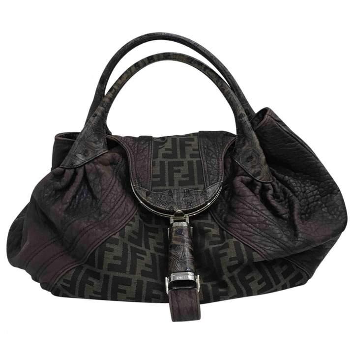 Fendi Spy Brown Cloth Handbag