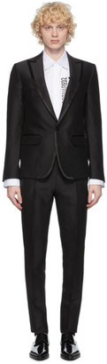 DSQUARED2 Black Wool and Silk London Fit Suit
