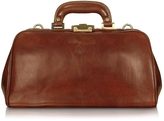 Chiarugi Handmade Brown Genuine Leather Doctor Bag