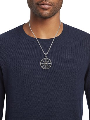 Jean Claude Stainless Steel & Beaded Wheel Of Karma Pendant Necklace