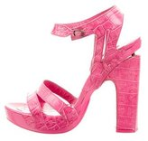 John Galliano Embossed Platform Sandals