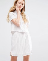 NATIVE YOUTH Boxy Striped Shirt Co-Ord