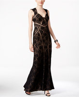 Xscape Evenings Open-Back Lace Gown