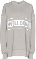 we11done reflective-logo sweatshirt