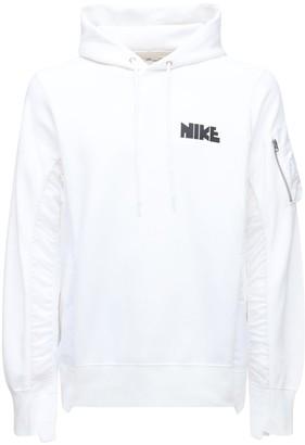 Nike Sacai Cotton & Nylon Sweatshirt Hoodie