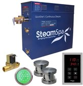 Steam Spa Indulgence 12 kW QuickStart Steam Bath Generator Package with Built-in Auto Drain