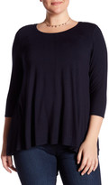Chelsea & Theodore 3/4 Sleeve Knit Swing Shirt (Plus Size)