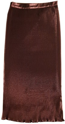Avelon Burgundy Silk Skirt for Women