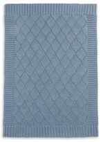 Mamas and Papas Cable Knit Blanket in Denim Blue