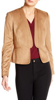 Nine West Faux Suede Open Jacket