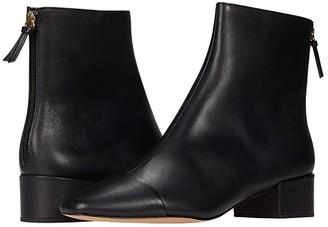 J.Crew Cap-Toe Ankle Boot (Black) Women's Shoes